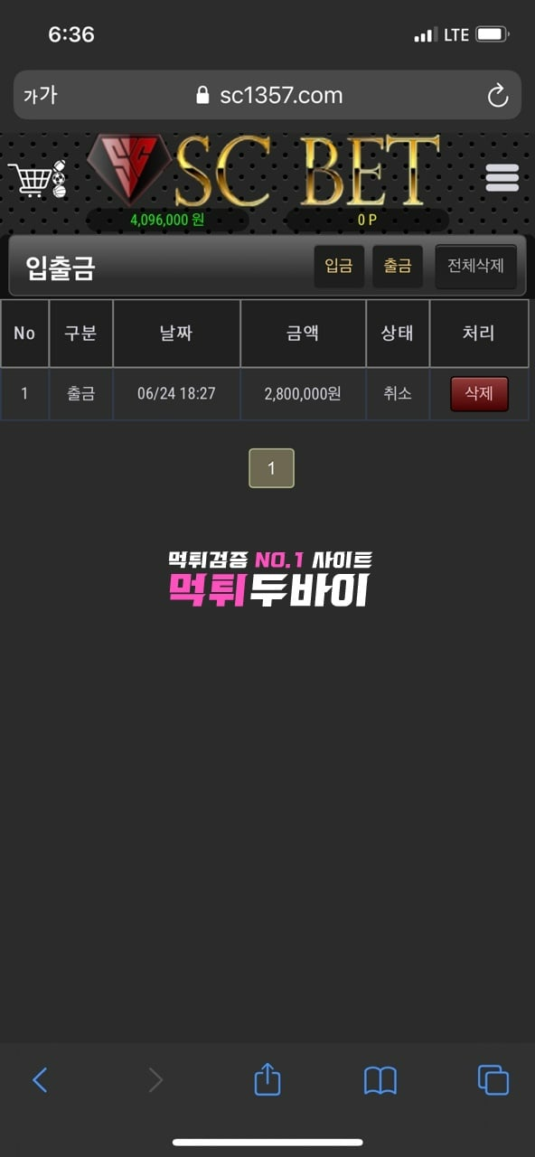 SC벳 먹튀 및 먹튀검증 상세정보